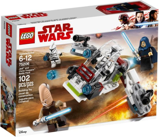 LEGO STAR WARS 75206 JEDI ANDCLONE TROOPERS BATLLE PACK
