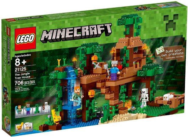 LEGO MINECRAFT 21125 THE JUNGLE TREE HOUSE