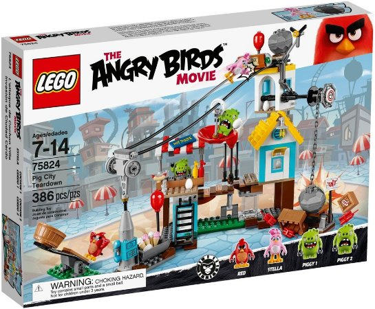 LEGO ANGRY BIRDS 75824 PIGGY CITY TEARDOWN