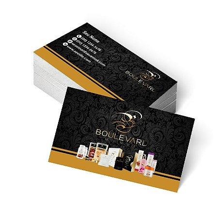 1.000 Cartão de Visita Boulevard Monde - Tamanho 9x5cm - Frente e Verso Colorido