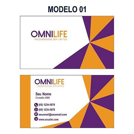 1.000 Cartão de Visita Omnilife - Tamanho 9x5cm - Frente e Verso Colorido