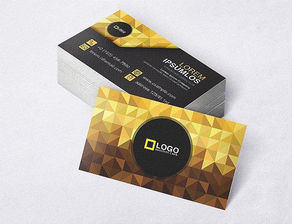 1.000 Cartão de Visita - Modelo 06 - Tamanho 9x5cm - Frente e Verso - Papel Couchê 250g - Verniz Total Frente
