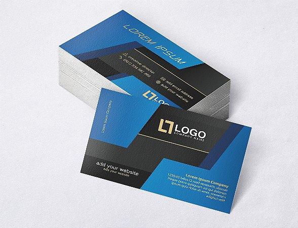 1.000 Cartão de Visita - Modelo 07 - Tamanho 9x5cm - Frente e Verso - Papel Couchê 250g - Verniz Total Frente
