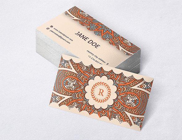 1.000 Cartão de Visita - Modelo 17 - Tamanho 9x5cm - Frente e Verso - Papel Couchê 250g - Verniz Total Frente