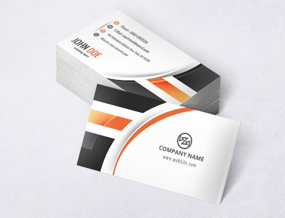 1.000 Cartão de Visita - Modelo 19 - Tamanho 9x5cm - Frente e Verso - Papel Couchê 250g - Verniz Total Frente