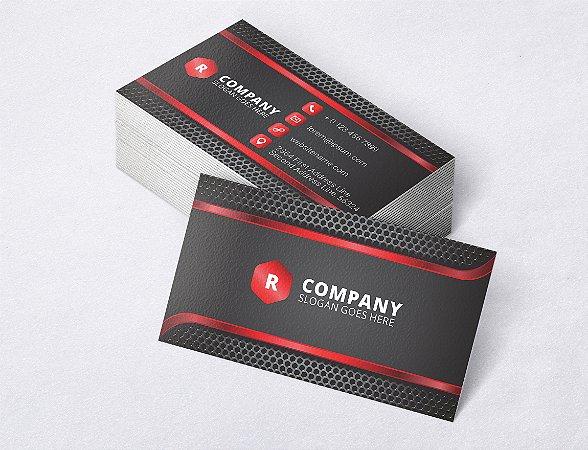 1.000 Cartão de Visita - Modelo 29 - Tamanho 9x5cm - Frente e Verso - Papel Couchê 250g - Verniz Total Frente