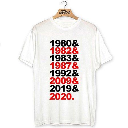 Camiseta Títulos Brasileiros (Coleção Rubro-Negro)