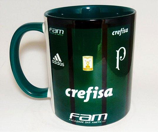 b9a38e6bfd Caneca do Palmeiras com alça e interior Verde
