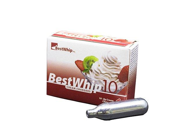 COMBO 10 Caixas de Gás Para Chantilly N2O Best Whip