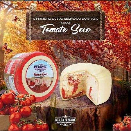 Queijo Trufado com Tomate Seco - Bom da Fazenda