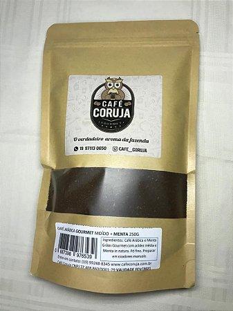 Café Arábica Gourmet Moído Com Menta - Café Coruja 0,250Kg