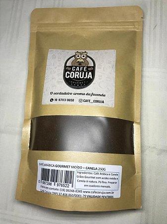 Café Arábica Gourmet Moído com Canela - Café Coruja 0,250kg