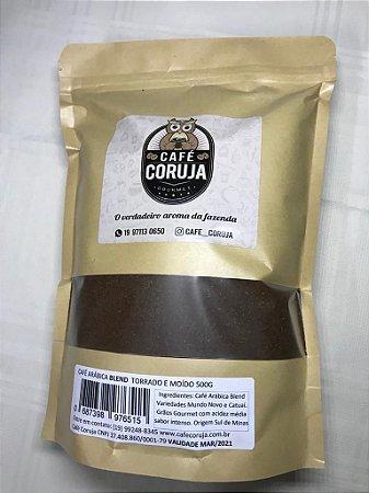 Café Arábica Blend Torrado e Moído - Café Coruja 0,250kg