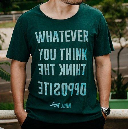 d83b0227a5 Camiseta John John escrita básica - Wudd