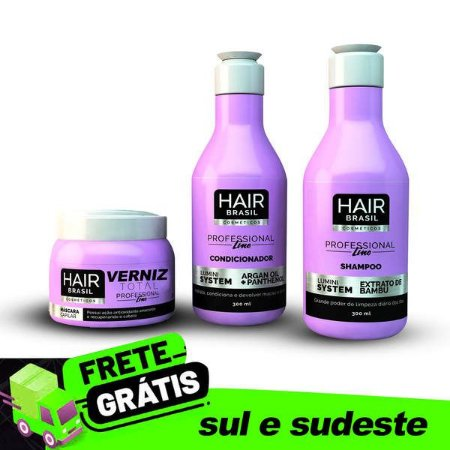 Kit Hair Brasil Cosméticos Lumini System - Verniz Total