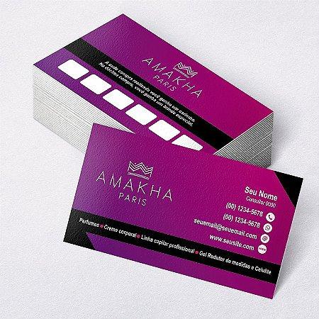 104f21f4f Cartão de Visita Amakha Paris - Gráfica Belo Horizonte