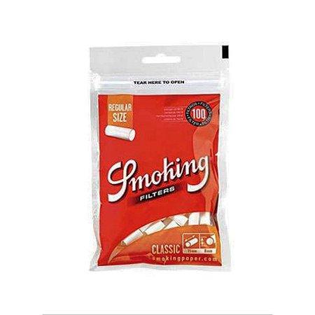 FILTRO PARA CIGARRO SMOKING REGULAR SIZE PACOTE COM 100