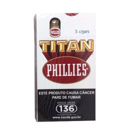 CHARUTO PHILLIES TITAN REGULAR PETACA C/ 5