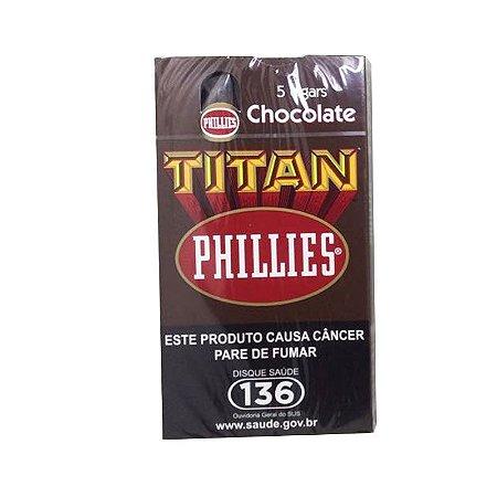 CHARUTO PHILLIES TITAN CHOCOLATE PETACA C/ 5