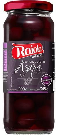 Azeitona Preta Raiola Azapa com caroço 200g