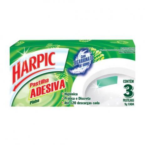 Desodorante Sanitário Harpic Pasta Adesiva Pinho 3x9g