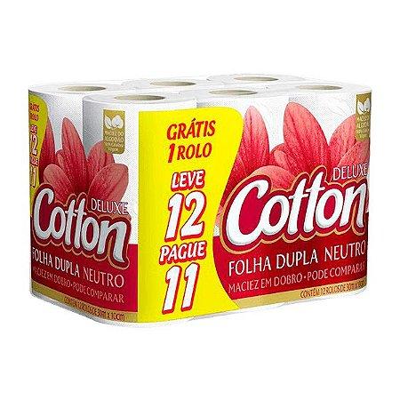 Papel Higiênico Cotton Fardo leve 12 pague 11