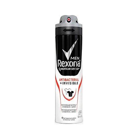 Desodorante Rexona Aerosol Masculino Antibacterial+Invisible 150ml