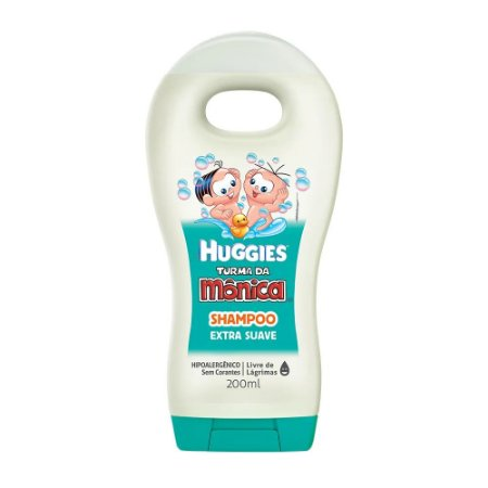 Shampoo Infantil Turma da Mônica Extra Suave Huggies 200ml