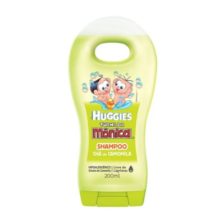 Shampoo Infantil Turma da Mônica Chá de Camomila Huggies 200ml