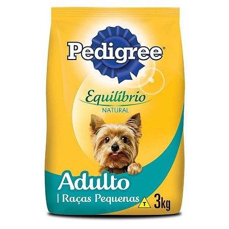 Ração para Cães Pedigree Adulto Equilíbrio Natural para Raças Pequenas 3kg