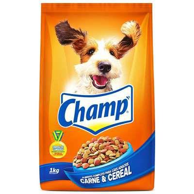 Ração para Cães Champ Adulto Carne e Cereal 1kg