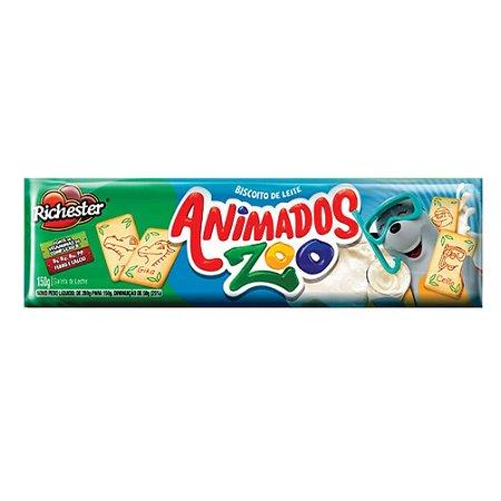 Biscoito Richester Animados Zoo Leite 150g