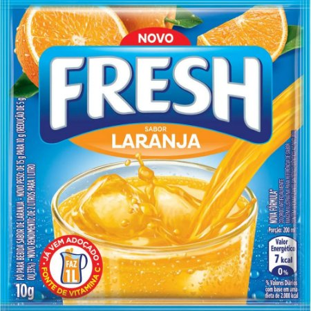 Refresco em pó Fresh Laranja 10g