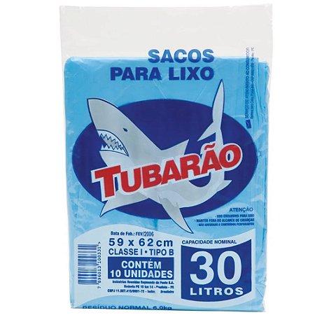 Saco de Lixo Tubarão 30 litros 10un