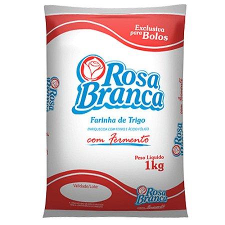 Farinha de Trigo Rosa Branca com Fermento 1Kg