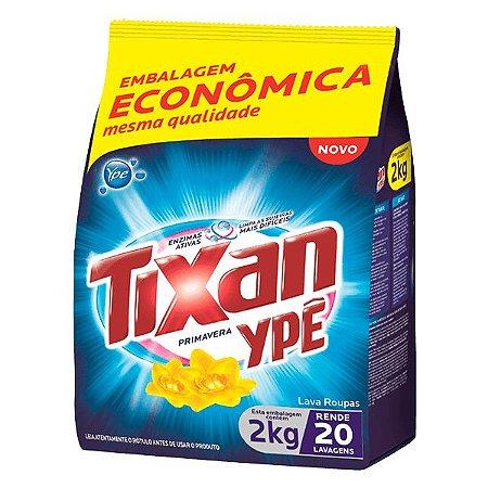 Detergente em pó Tixan Primavera saco 2kg