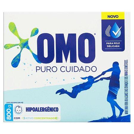 Detergente em pó Omo Puro Cuidado caixa 800g