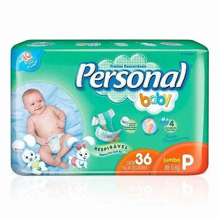 Fralda Descartável Personal Baby P 36 und