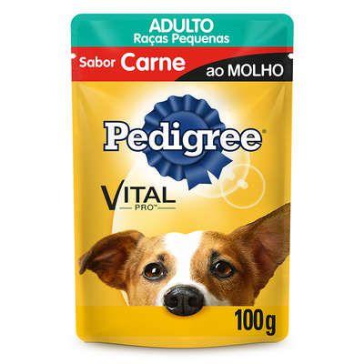 Ração para Cães Pedigree Adulto Raças Pequenas Carne 100g
