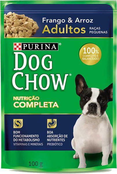 Ração para Cães Dog Chow Adulto Raças Pequenas Frango 100g