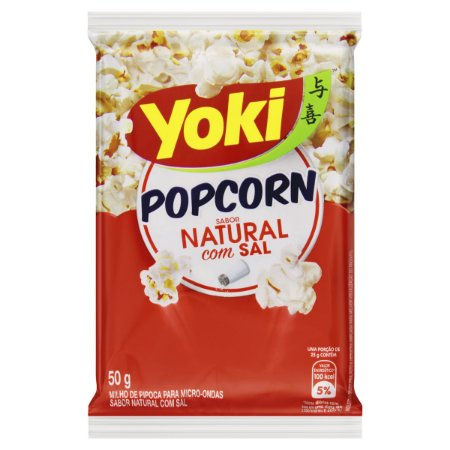 Milho de Pipoca Yoki Sabor Natural com Sal 50g
