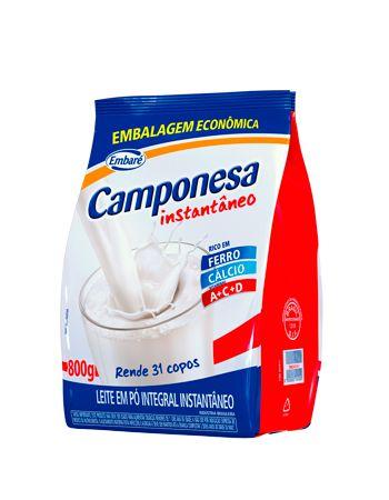 Leite em Pó Camponesa Integral Instantâneo 800g