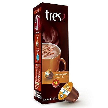 Achocolatado em pó 3 Corações Chocolate-Caramelo (10x10x5)