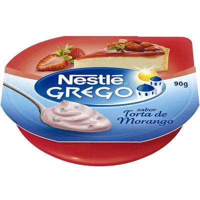Iogurte Nestlé Grego Torta de Morango 90g