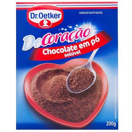 Chocolate em pó Dr. Oetker Solúvel 200g