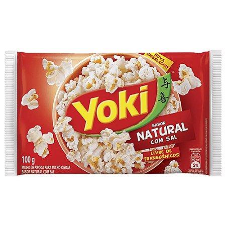 Milho para Pipoca de Microoondas Natural com Sal Yoki 100g