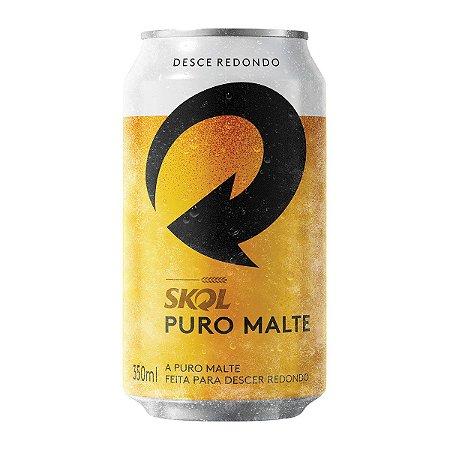 Cerveja Skol Puro Malte lata 350 ml