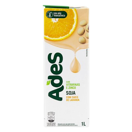 Bebida à Base de Soja Ades Sabor Laranja 1L