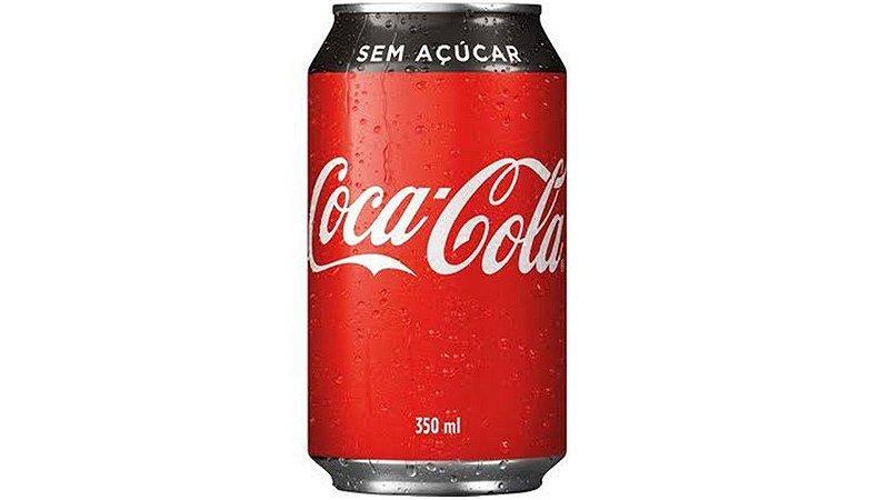 Refrigerante Coca-Cola sem açúcar lata 350ml