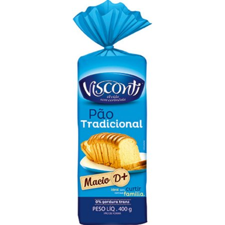 Pão de Forma Tradicional Visconti 400g